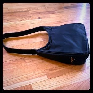 Black Nylon Prada shoulder bag